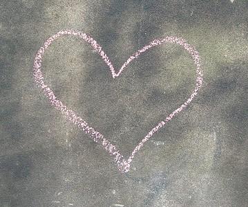 Coeur, carte remerciements après un mariage