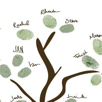 Jolie id e du jour l 39 arbre empreintes d coration f te mariage - Idee arbre genealogique original ...