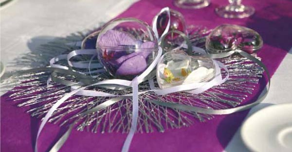 Couleurs de décoration de table pour mariages en hiver