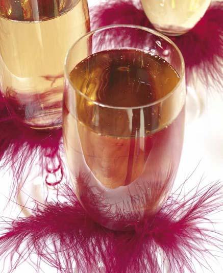 Décoration de verre pour un mariage