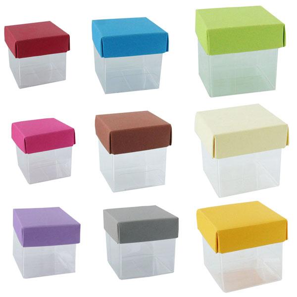 Mini cube contenant à dragées
