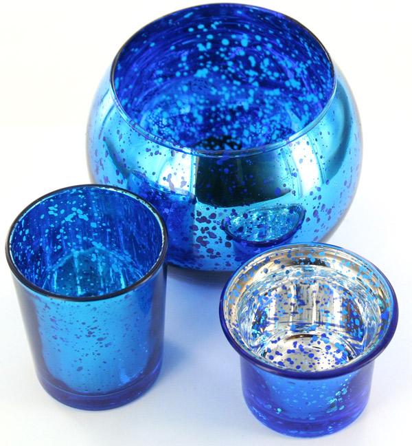 Bougeoirs en verre effet métal