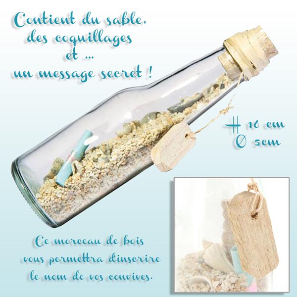 Une jolie bouteille la mer d coration f te mariage - La bouteille sur la table ...
